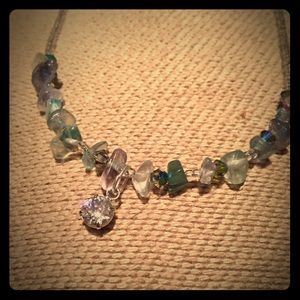 Jewelry - Swarovski crystal and natural gem stone necklace